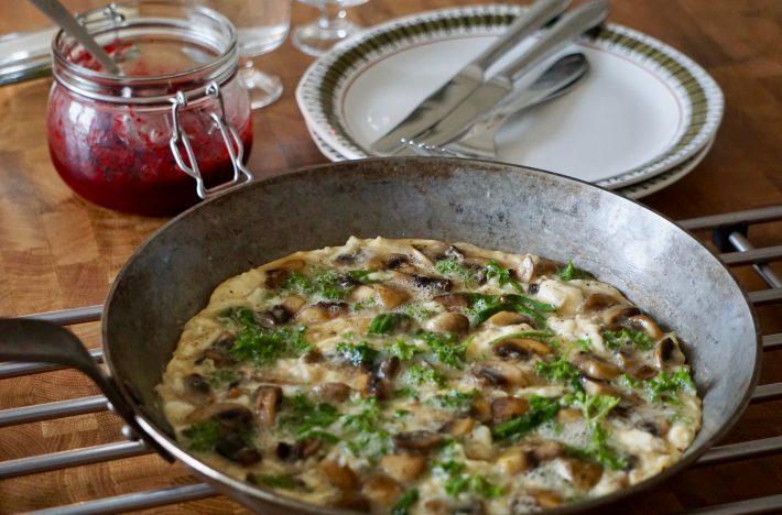 Omelett i stekpanna