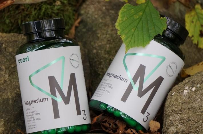 Bild på Puori kosttillskott M3 magnesium