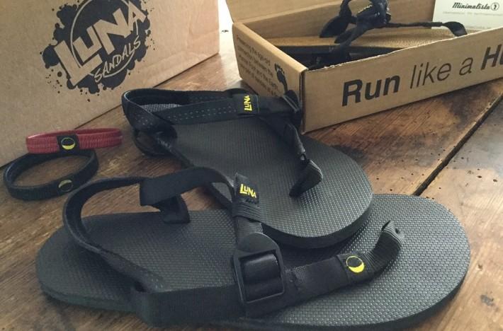 Nya Luna sandaler direkt ur förpackningen