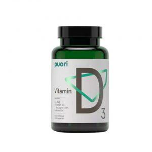 Burk med kosttillskott D-vitamin från Puori