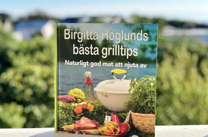 Bild på omslaget av boken Birgitta Höglunds bästa grilltips