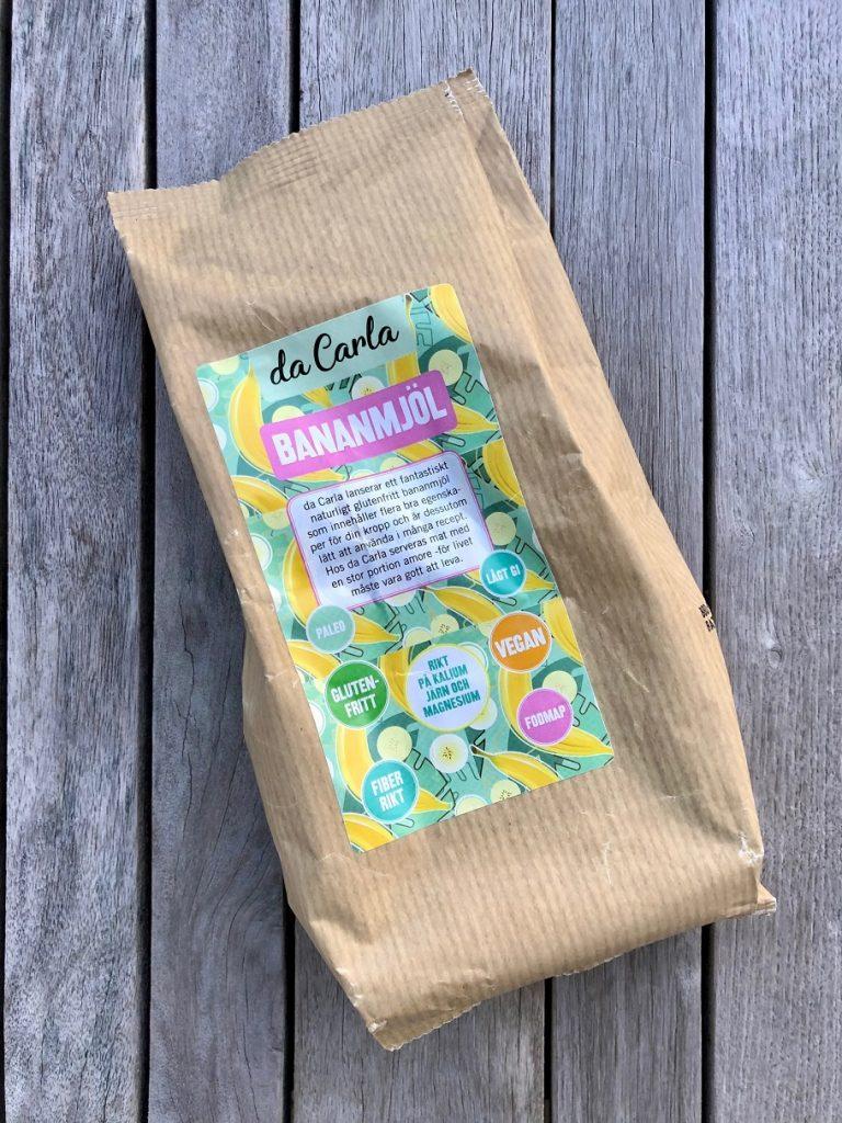 Ett paket med bananmjöl från da carla