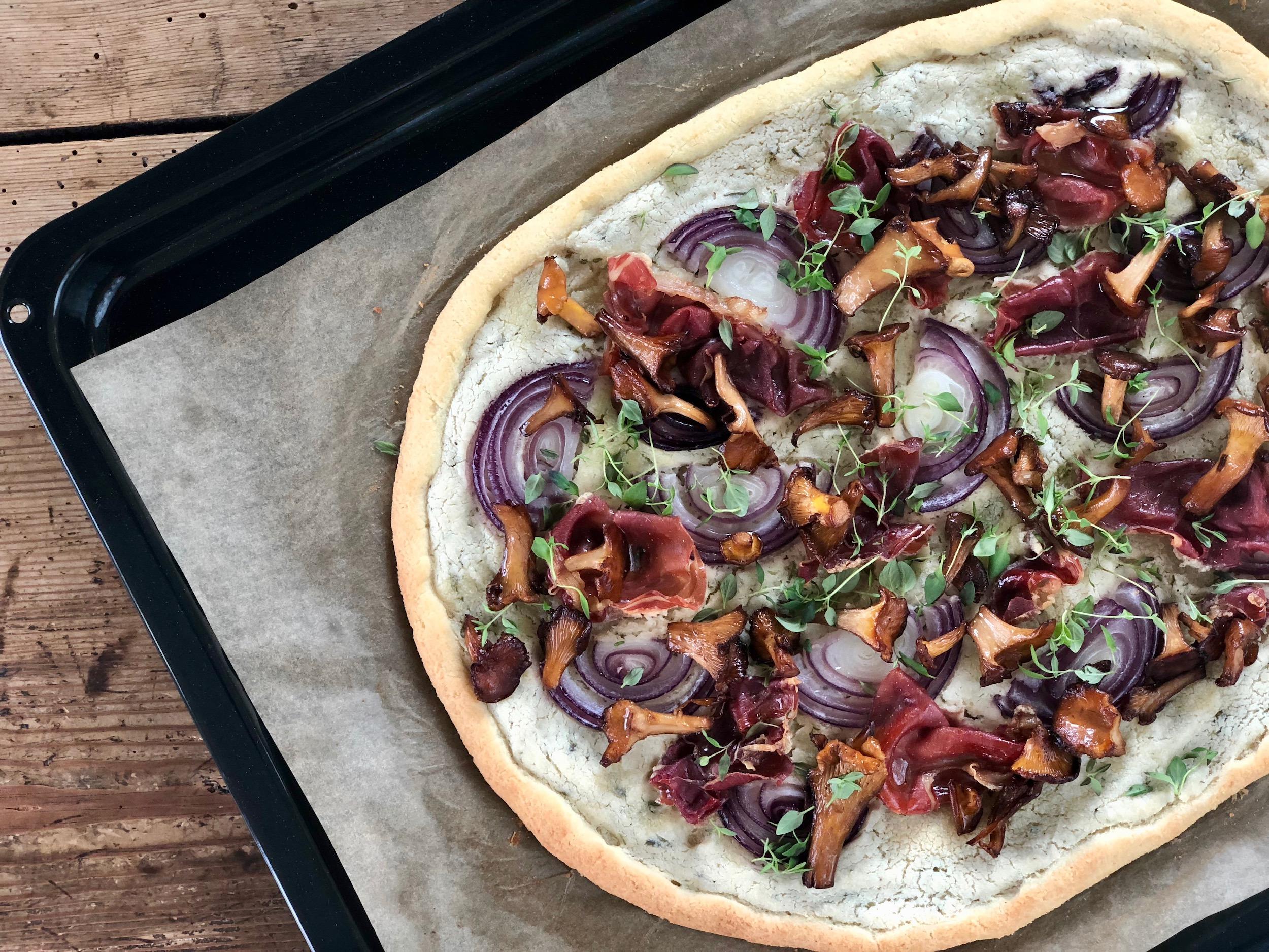 Vit Pizza med kantareller